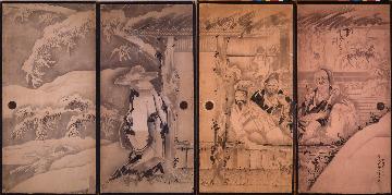 三重県立美術館 曾我蕭白 《竹林七賢図》 1764年頃 解説